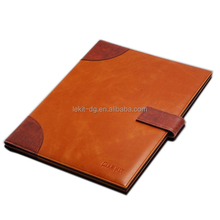A4 joint pu portfolio folders with strap closure