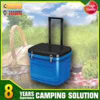 Polystyrene Ice Cooler Box with Wheel