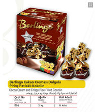 Berlingo Cocoa Cream and Crispy Rice Filled Cocolin Compound Chocolate