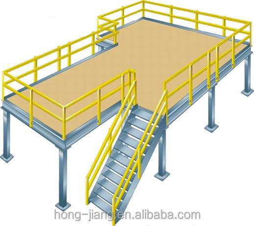 Auto Industry Storage Racking Mezzanine Floor System With Warehouse Shelving