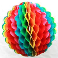 Mix color handmade paper honeycomb ball ,party decoration