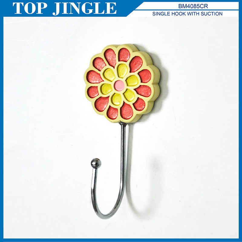 Charming Sunflower Shape Twin Plastic Hook Adhesive