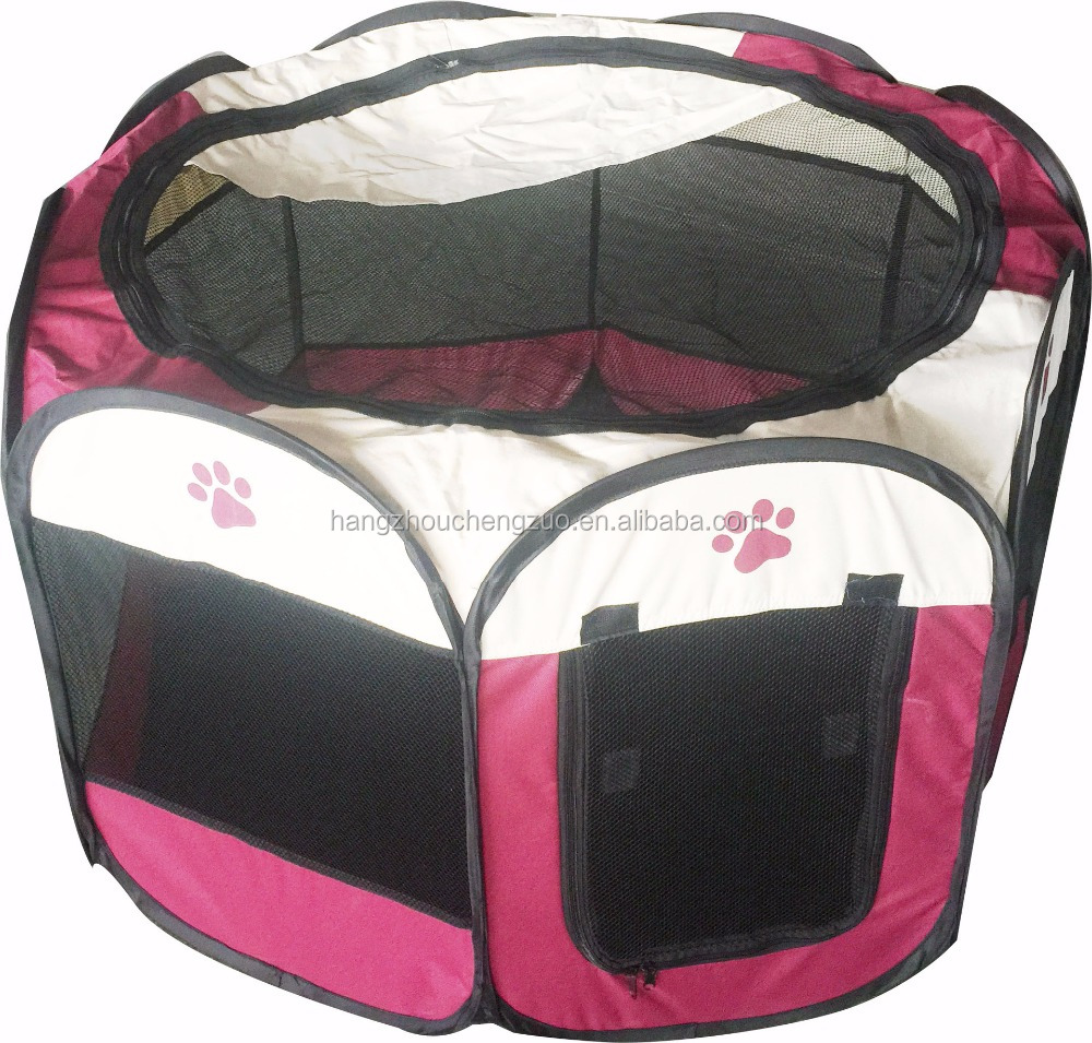 "Hot Selling 45""X45""X23"" Foldable Camping Pet House,CZ-012B Pet Playpen 8 Panel Camping Puppy Dog Tent,Foldable Pet Tent"