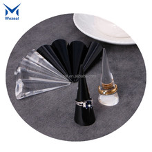 New Acrylic Finger Cone Ring Stand Jewelry Display Holder Show Case