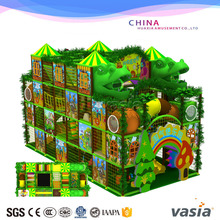 2017 huaxia big shoping mall usd commercial Children jungle theme soft indoor playground for sale