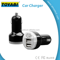 Mini 3.1A USB cell phone car charger for 12-24V input 1.2a