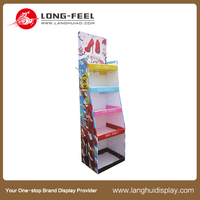 Latest arrival Leather Shoes cardboard floor tiles display rack/ display stand