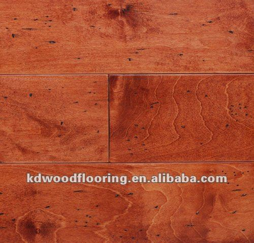 Stained color Maple engineered flooring