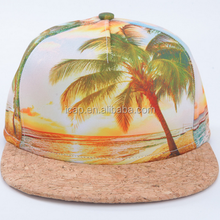 Fashion Caps~ Coconut Tree Pattern Hawaii Snapback Cap Unisex Sport Hip-Hop Cap Sublimation Printing Hats