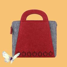 Customized flap tablet felt material laptop sleeve case