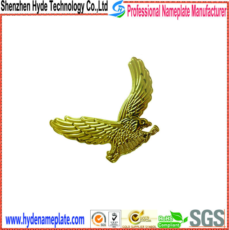 custom die casting ABS sticker with names car eagle emblem