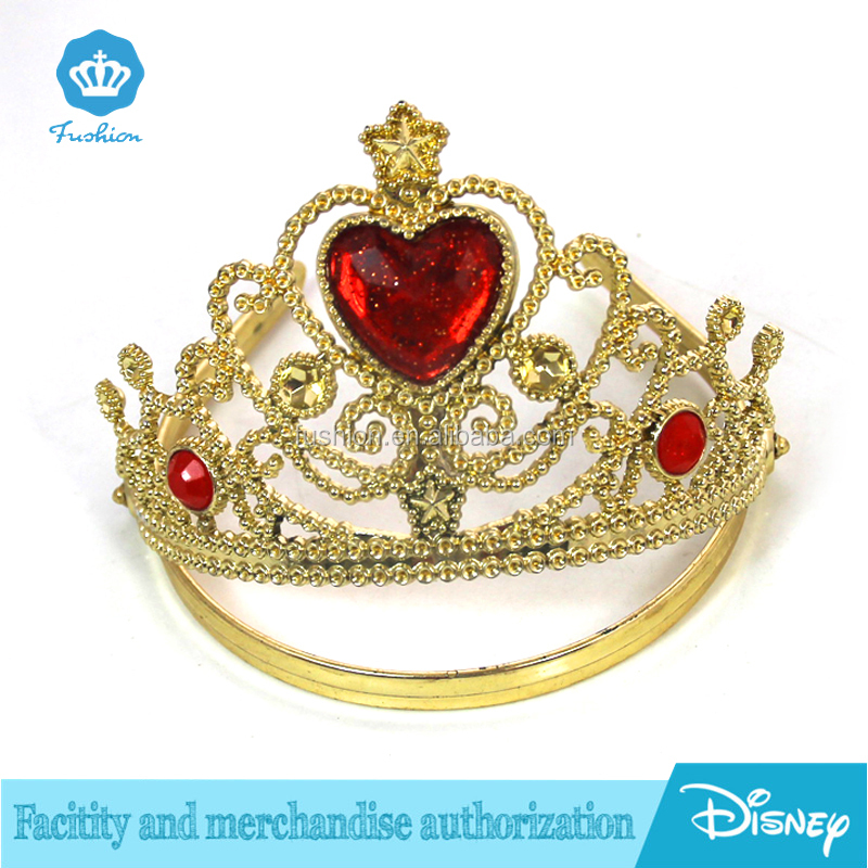 Christmas princess Beauty girl doll plastic real diamond crowns and tiaras for sale