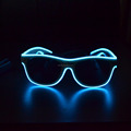 white Frame sound activated flashing Glow led glasses