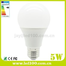 CE RoHS aluminum plastic 5w led bulb equals to 25w incandescent lamp