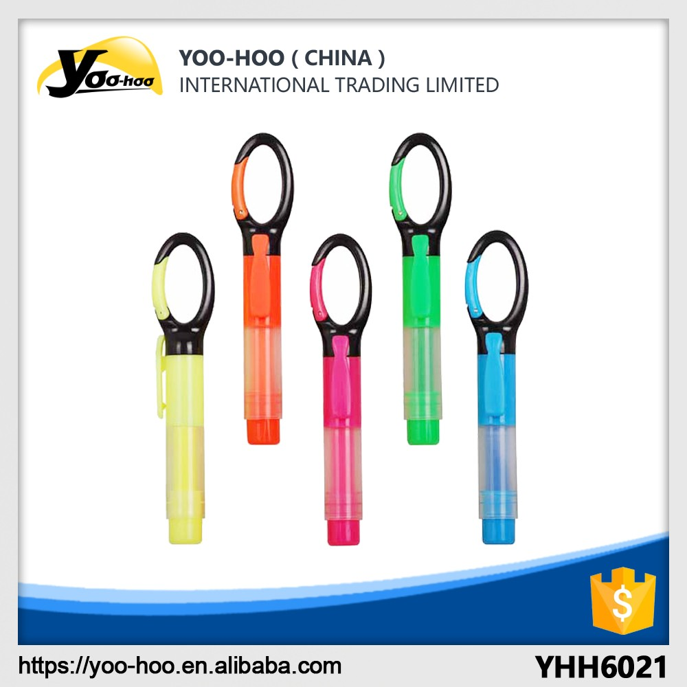 Best selling OEM special design Carabiner Highlighter marker pen