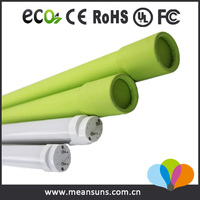 2016 newest China 100lm/w led lighting pole price list CE&ROHS t8 led red tube 22w t8 tube