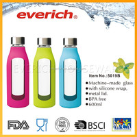 600Ml Everich Design Product Glass Milk Water Bottle With Sleeve