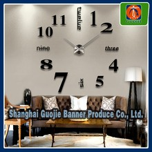 removable vinyl decal clock design wall sticker