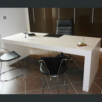 Buy corian office desk design modern white in China on Alibaba.com