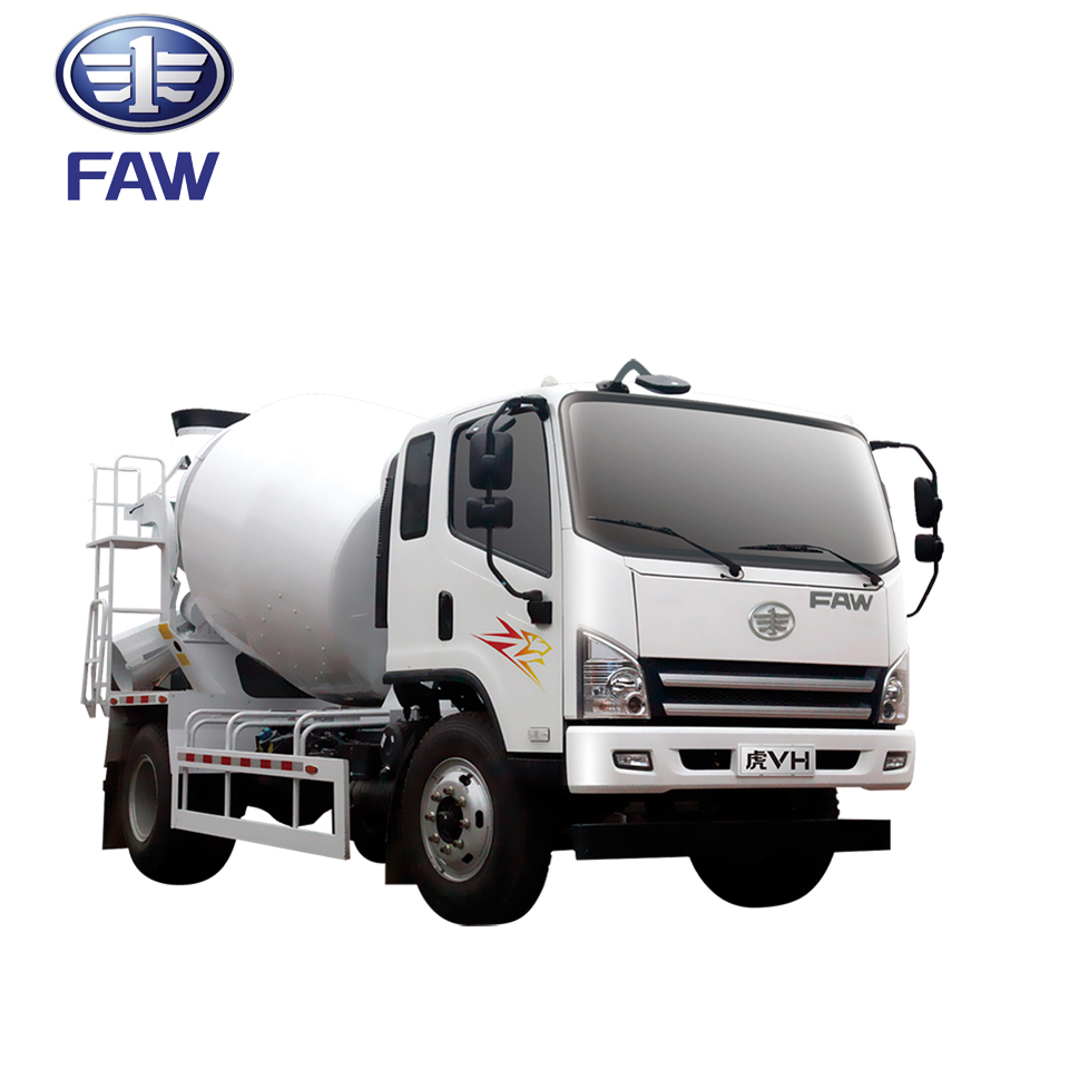 FAW Tiger-V 7 Cubic Meters Cement Concrete Mixer Truck Price