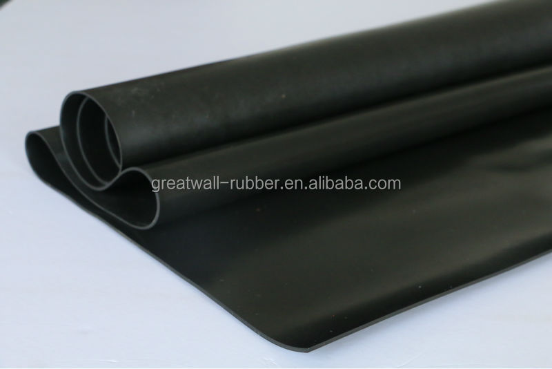 sides smooth 1-15mm thickness 5mpa Hypalon rubber sheet