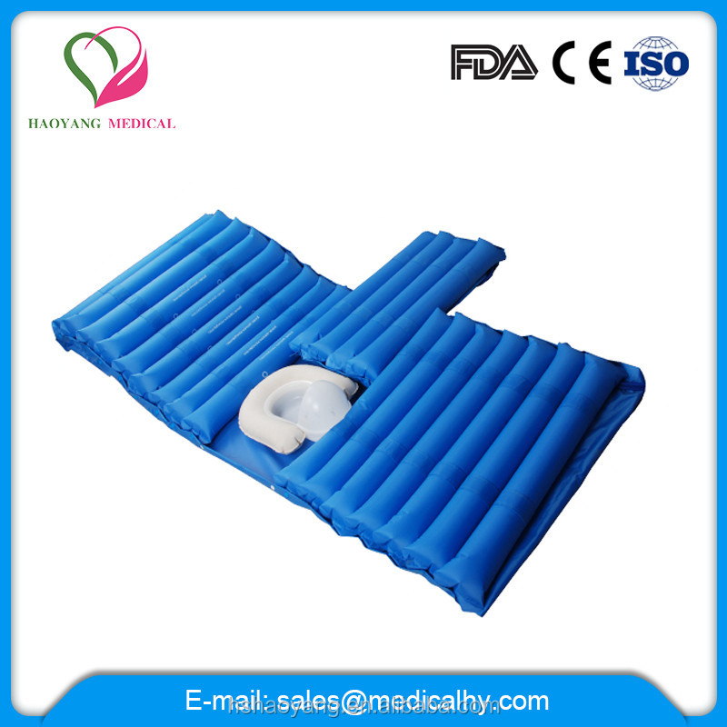 anti bedsore inflatable massage medical air mattress with toilet
