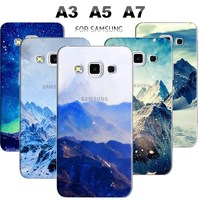 Remote replacement cover cases for SAMSUNG A3 A5 A7 NOTE 4 N9100 with semi-transparent design