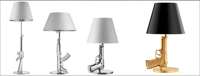 Beautiful Starck Ak47 Gun Table Lamp/Brand New Classic Designer AK47 Gun Table Lamp  Gold Or