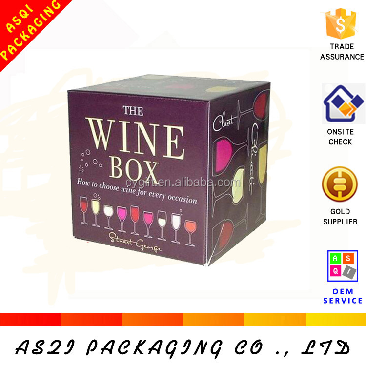 4 color printing paper packaging wine box