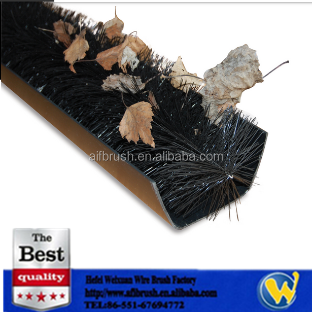 high quality rain gutter brush leaf guard from china factory - Gutter Brush