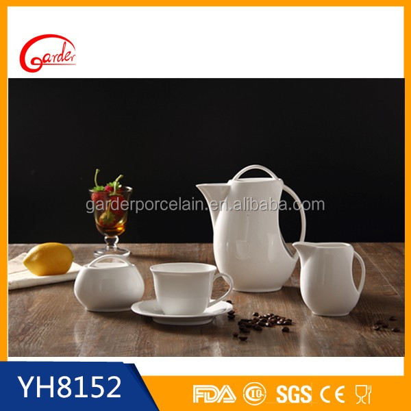 Best selling product white porcelain classic coffee and tea set