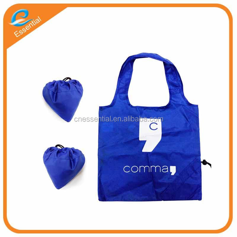 Manufacture supply cheap price fold tote drawstring carry bag with strawberry