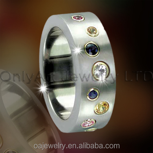 small order hot selling high fashion jewelry purity titanium ring paypal acceptable