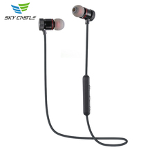 For Sport Adsorption Noise Reduction Microphone Wireless Magnetic Bluetooth Earphone