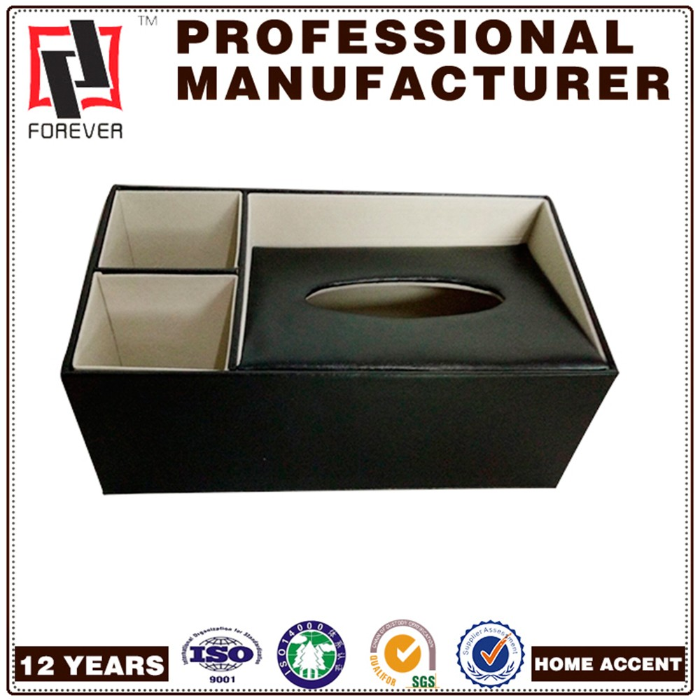 New Style Table Decorative Box Promotional 3D PU Container Tissue Box
