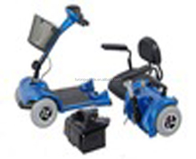 Seaworthy Iron stand packing four wheels electric mobility scooter