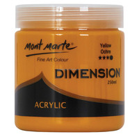 Mont Marte Dimension Acrylic Paint 250mls - Yellow Ochre