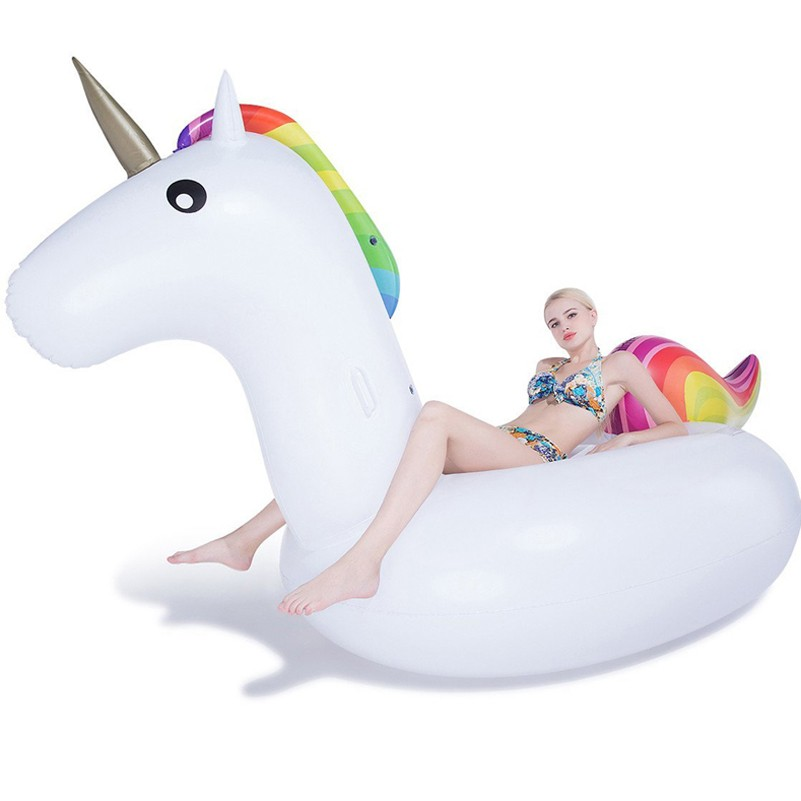 Wholesale high quality swim ring inflatable swan fashion giant unicorn pool float