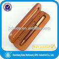 2014 Beech Triangular Triangle Wooden Set Pen Box For Display With Hole Single Pen Slot