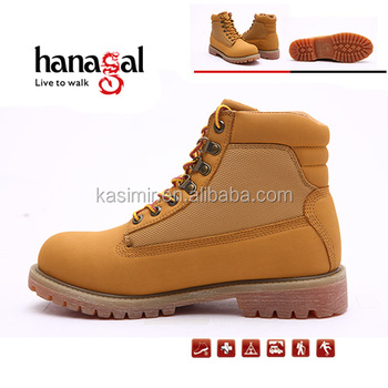 Cheap steel toe work shoes safety boots yellow casual boots