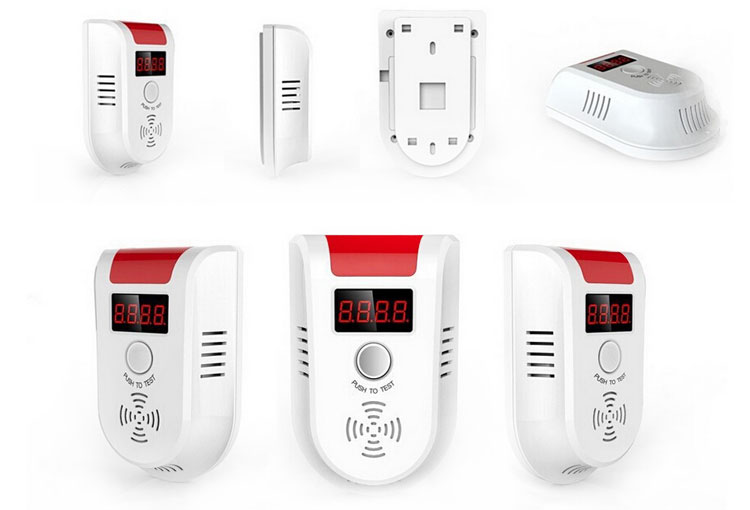Home portable lpg gas detector with shut-off valve sensor