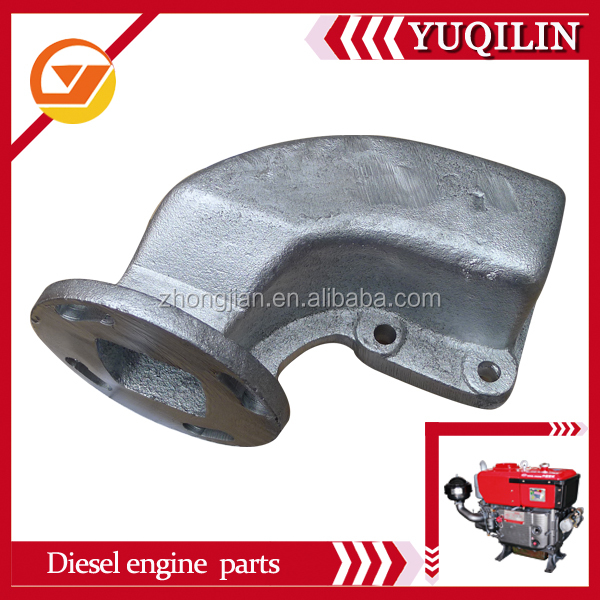 Yuqilin FJ brand diesel engine spare parts JD330 exhaust pipe manufacturer