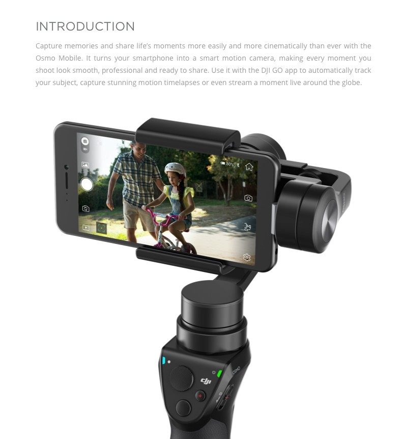DJI Osmo Mobile 3 axis gimbal Gimbal uav gimbal dslr for iphone