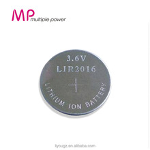 Newest Product!!! Wholesale Supplier 2016 MP Rechargeable Li-ion Dry Button Cell Battery 3.6v LIR2016 Car Batteries