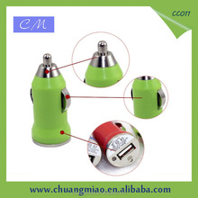 Hot Selling Car Accessories 5V 2A Usb Car Charger Colorful Automatic Mobile Phone Charger