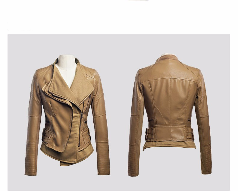 New jackets women fashion ladies dress winter design leather motorcycle jacket