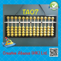 13 Rods Yellow Beads New Design Teacher Wooden Abacus Soroban