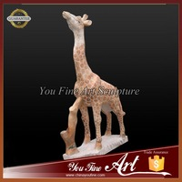 Small Stone Animal Giraffe Carving sculpture For Decoration