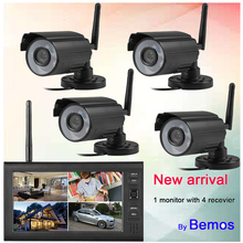 New 4ch NVR KITS Wholesale Wireless Home Security Camera System With Monitor