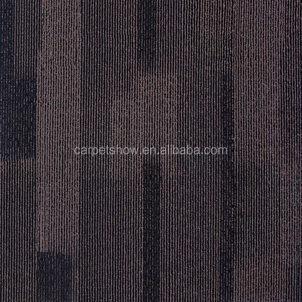 Dark Color 100% Nylon Stripe Carpet Tiles for USA Market